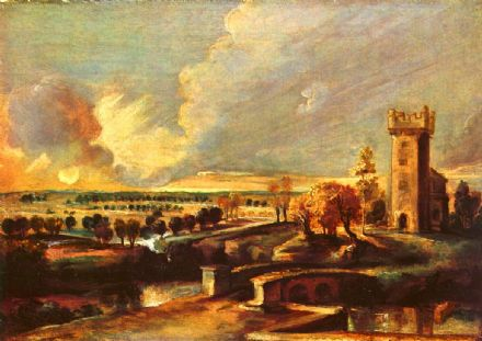 Rubens, Peter Paul: Landscape with the Tower of Castle Steen. Fine Art Print/Poster. Sizes: A1/A2/A3/A4 (001215)